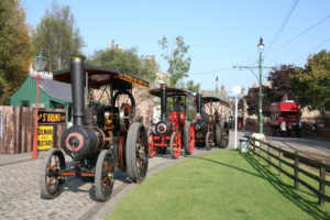 What's on at Beamish in 2020: Great North Steam Fair - traction engines making their way through The 1900s Town