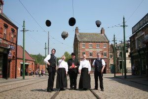 Beamish costumed staff celebrate the Award