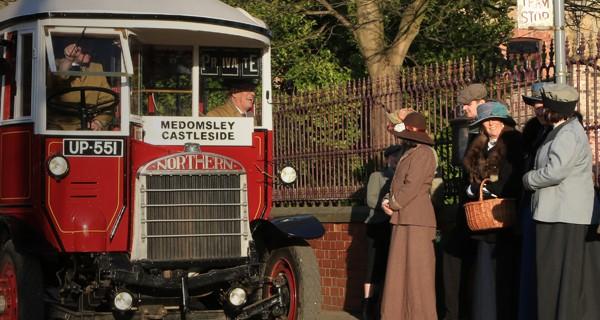 SOS bus on Town street