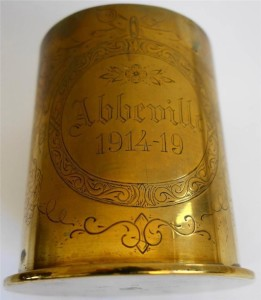 A German artillery shell