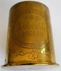 A German artillery shell