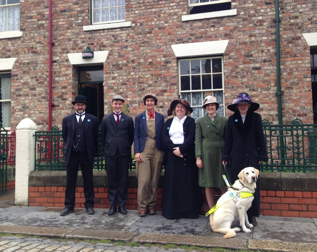 Beamish staff and volunteers wearing their Dementia Friends badges