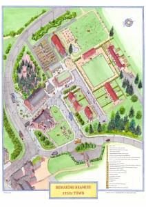 Remaking Beamish - 1950s Town artist's impression