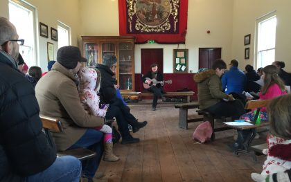 Join in traditional songs in the Band Hall. Music, guitar, mondays, beamish, museum