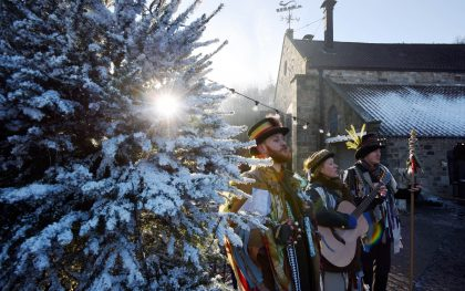 Twelfth Night Celebrations, Christmas, Beamish Museum, Guisers, singing, entertainment, new year, Durham,