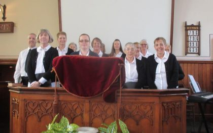 MINE Choir at Beamish Museum in the Pit Village Chapel
