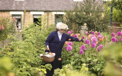 Picking Flowers in The 1900s Pit Village for the Floral Design Traditional Experience