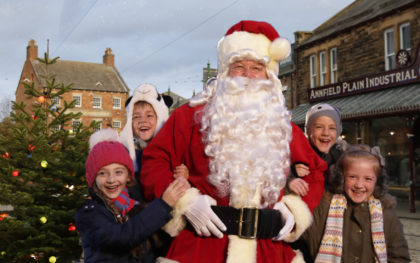 Christmas at Beamish - Father Christmas on The 1900s Town Street