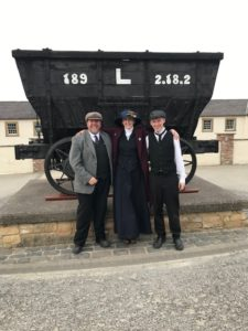 Beamish Museum's Emily Hope with previous Tourism Superstar winner Matthew Henderson and runner-up Anthony Gales.