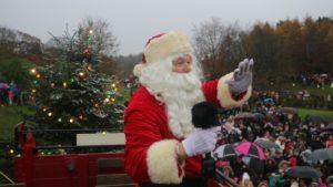 What's on at Beamish in 2020: Christmas at Beamish Grand Launch Parade - Father Christmas waving at visitors