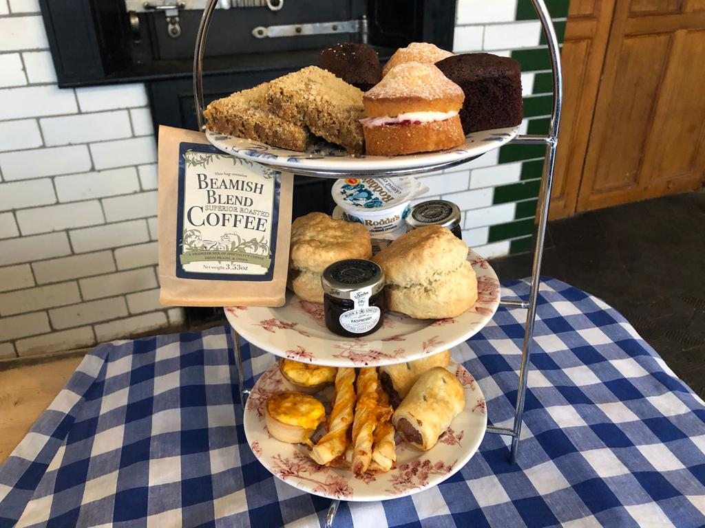 Photograph shows the contents of the Beamish Afternoon Tea for Two Box part of Beamish Home Deliveries