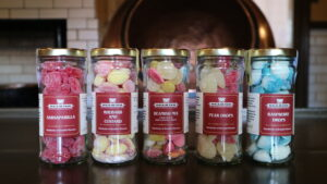 Wholesale Sweets from Beamish Museum. Image contains five jars of hard boiled sweets