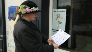 A member of Beamish staff completing the Beamish Flower Trail